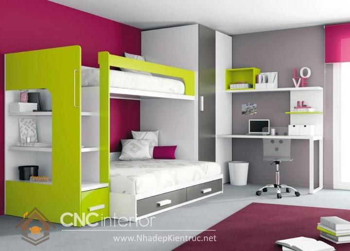 Giường kết hợp bàn học và tủ đồ 07
