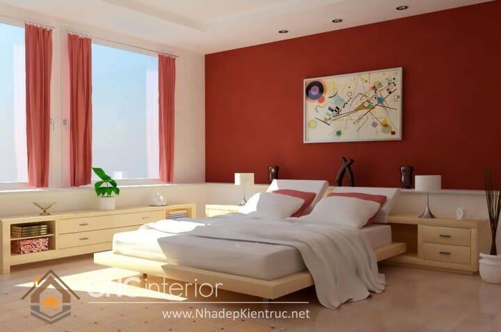 phòng ngủ màu đỏ 01