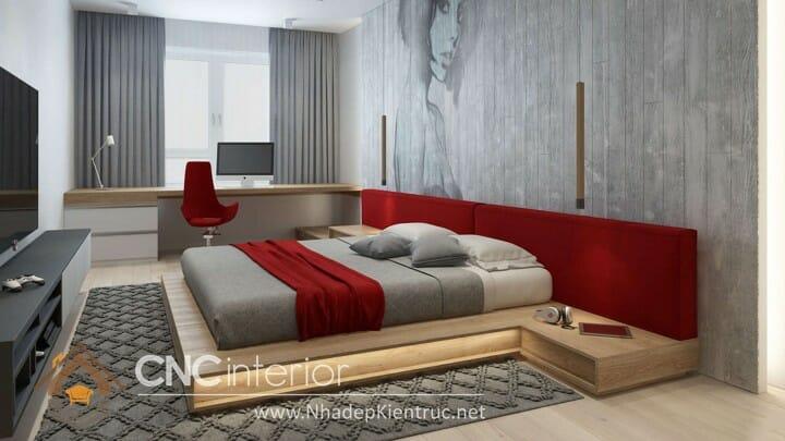 phòng ngủ màu đỏ 10