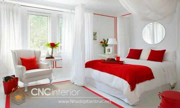 phòng ngủ màu đỏ 11
