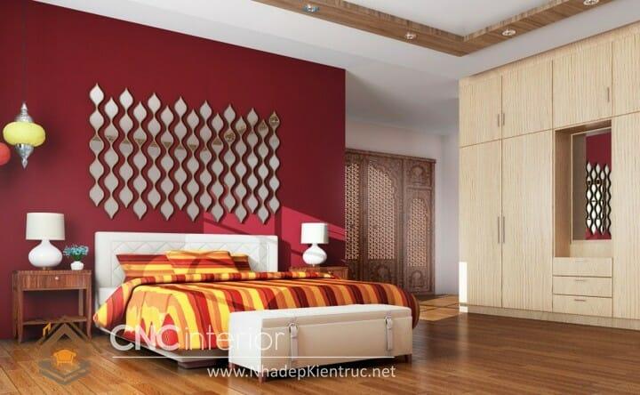 phòng ngủ màu đỏ 02