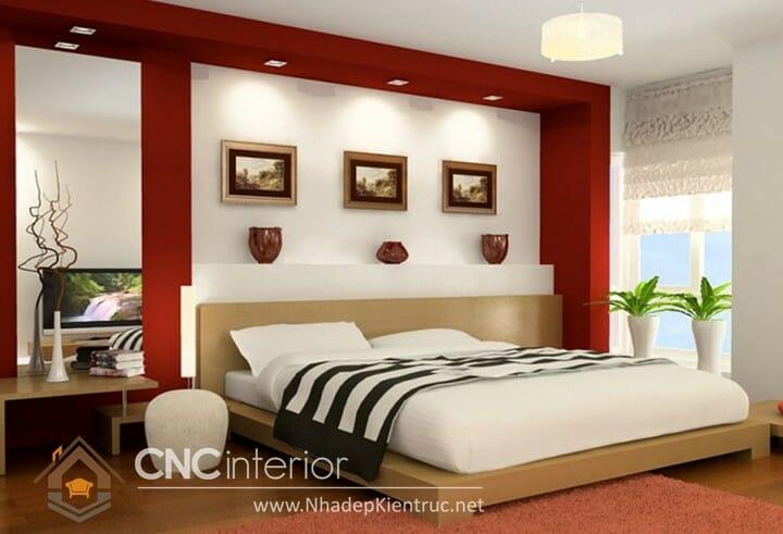 phòng ngủ màu đỏ 03