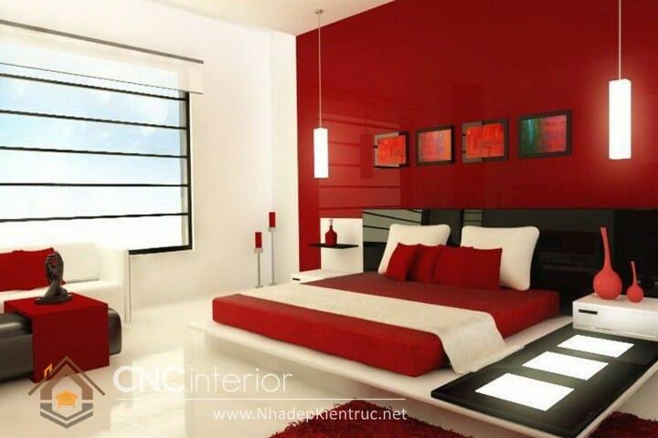 phòng ngủ màu đỏ 05