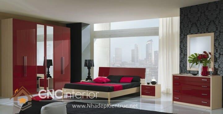 phòng ngủ màu đỏ 06