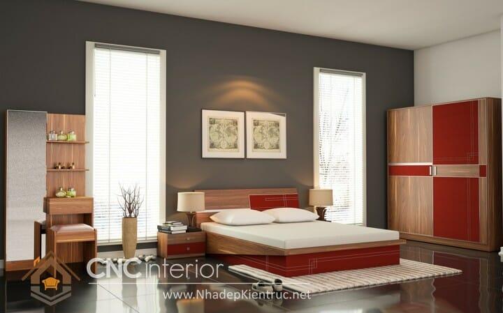 phòng ngủ màu đỏ 07