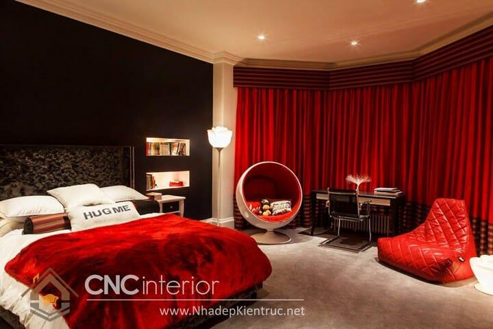 phòng ngủ màu đỏ 09