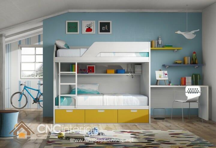 10 mẫu phòng ngủ màu xanh da trời dành cho trẻ em 01