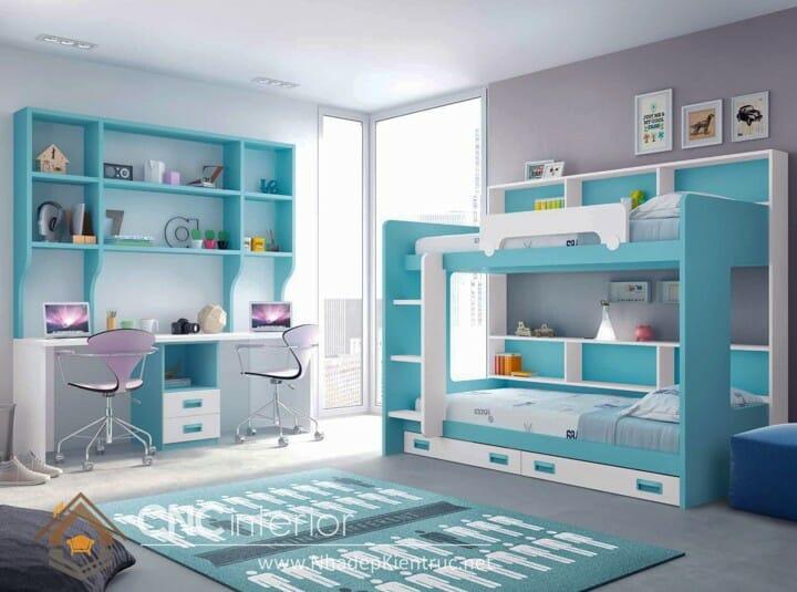 10 mẫu phòng ngủ màu xanh da trời dành cho trẻ em 11