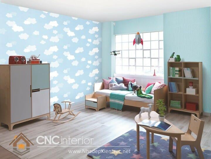 10 mẫu phòng ngủ màu xanh da trời dành cho trẻ em 02
