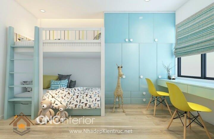 10 mẫu phòng ngủ màu xanh da trời dành cho trẻ em 05