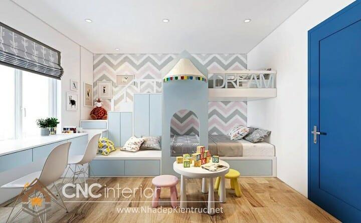 10 mẫu phòng ngủ màu xanh da trời dành cho trẻ em 06