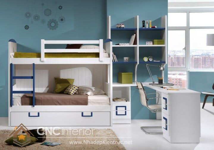 10 mẫu phòng ngủ màu xanh da trời dành cho trẻ em 07