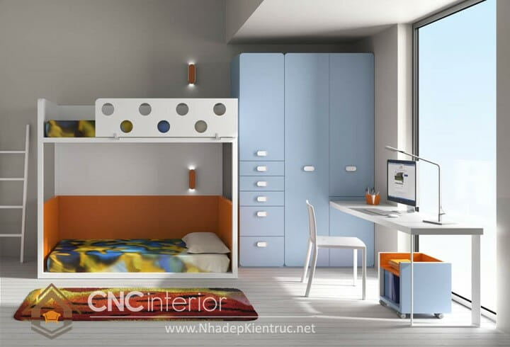 10 mẫu phòng ngủ màu xanh da trời dành cho trẻ em 08
