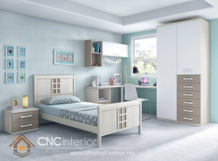 10 mẫu phòng ngủ màu xanh da trời dành cho trẻ em 09