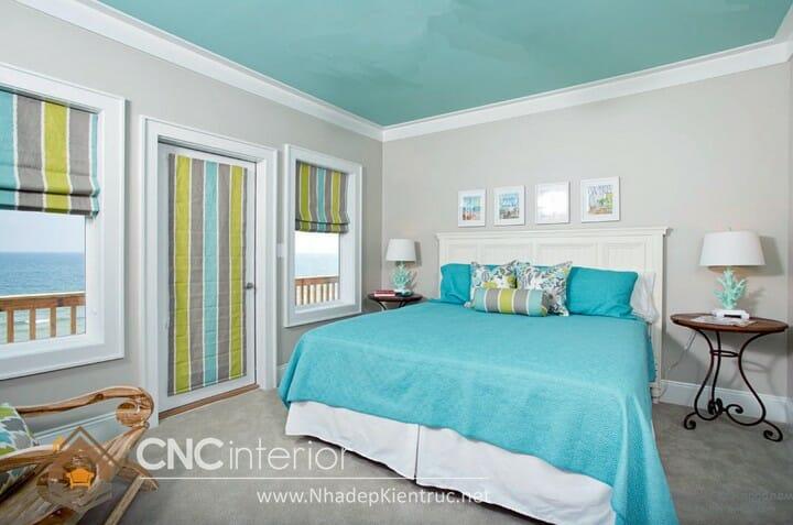 phòng ngủ màu xanh dương 01