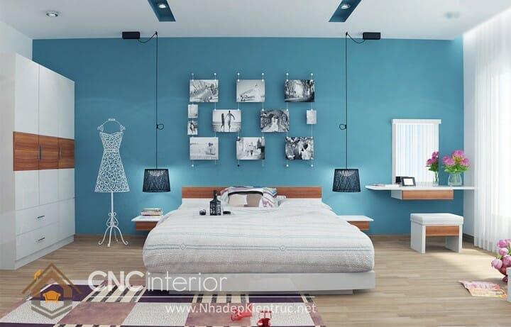 phòng ngủ màu xanh dương 02