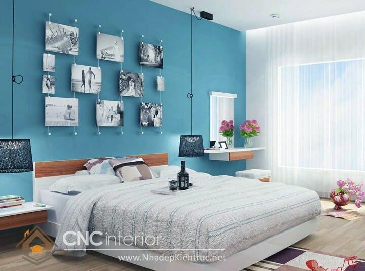 phòng ngủ màu xanh dương 03