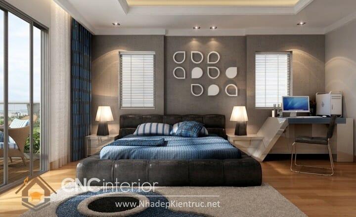 phòng ngủ màu xanh dương 06