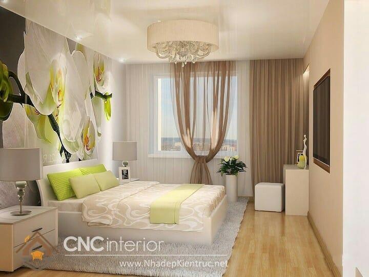 Phòng ngủ màu xanh lá cây trẻ trung đầy phong cách 13