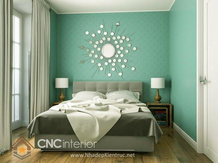 Phòng ngủ màu xanh lá cây trẻ trung đầy phong cách14