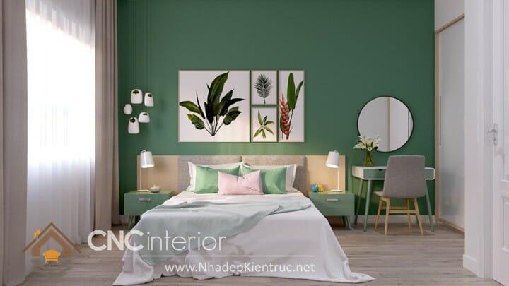 phòng ngủ màu xanh ngọc 02
