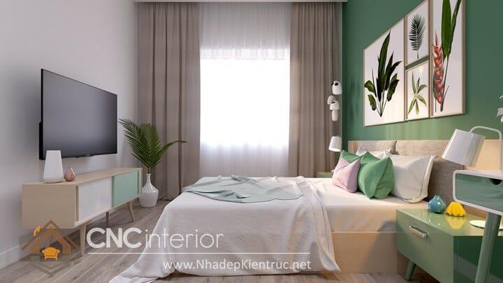phòng ngủ màu xanh ngọc 03