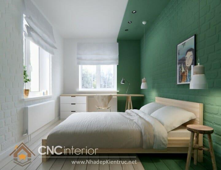 phòng ngủ màu xanh ngọc 04