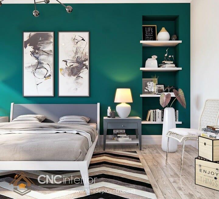 phòng ngủ màu xanh ngọc 06