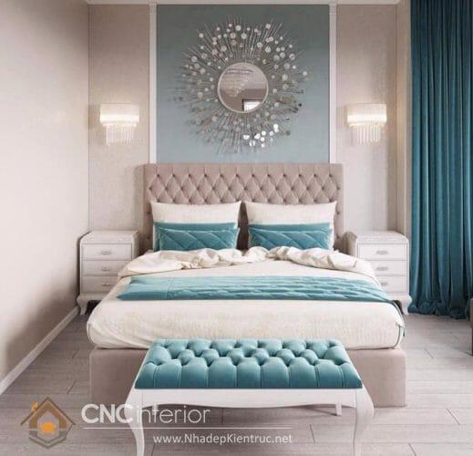 phòng ngủ màu xanh ngọc 07