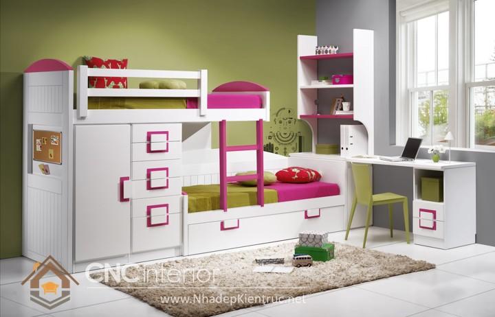 cách trang trí phòng ngủ cho con gái màu hồng 10