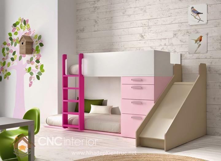 cách trang trí phòng ngủ cho con gái màu hồng 02