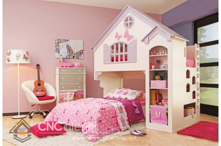 cách trang trí phòng ngủ cho con gái màu hồng 03