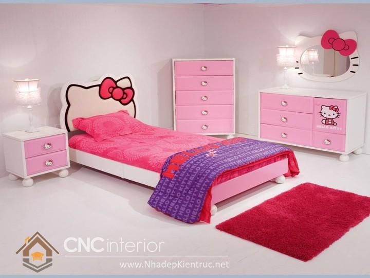 cách trang trí phòng ngủ cho con gái màu hồng 08