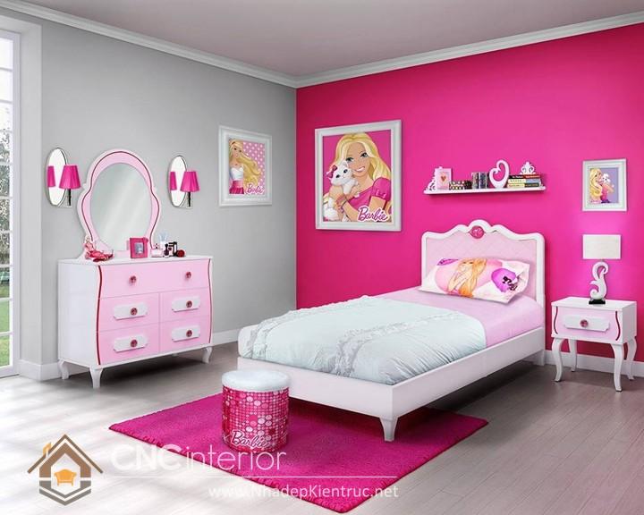 cách trang trí phòng ngủ cho con gái màu hồng 09