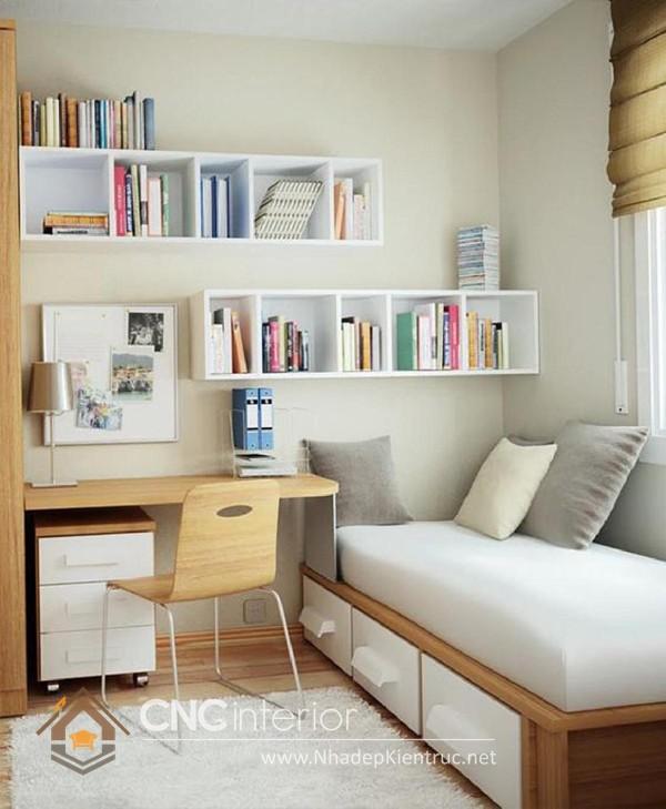cách sắp xếp đồ đạc trong phòng ngủ nhỏ hẹp 02