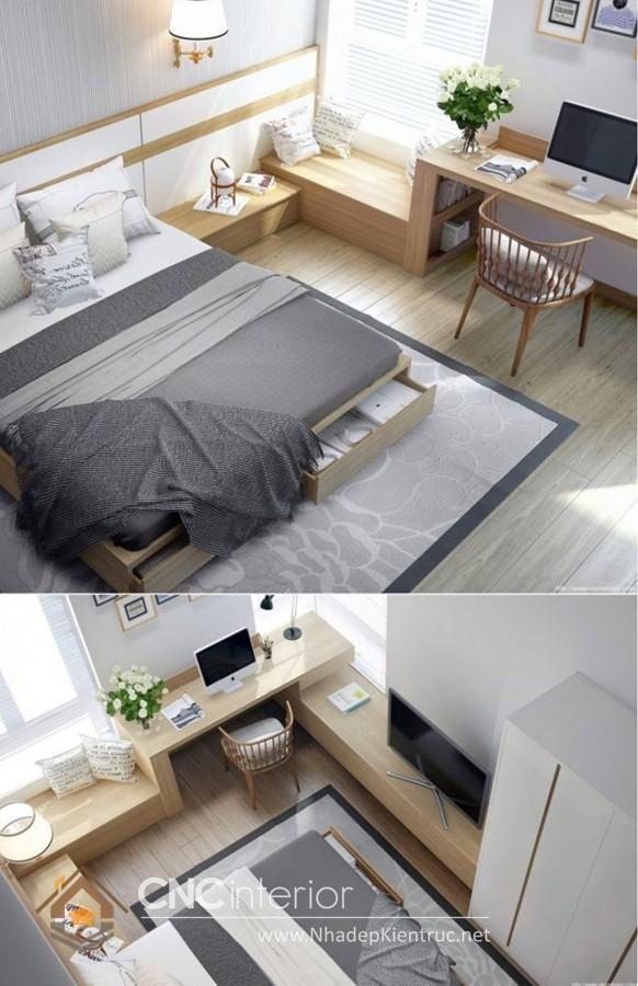 cách sắp xếp đồ đạc trong phòng ngủ nhỏ hẹp 01