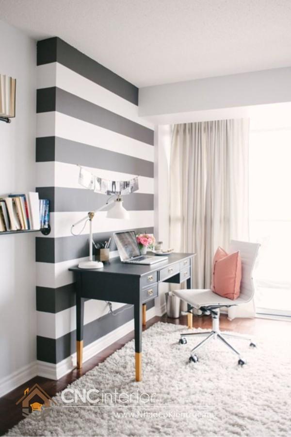 vẽ tranh tường phòng ngủ đơn giản 1
