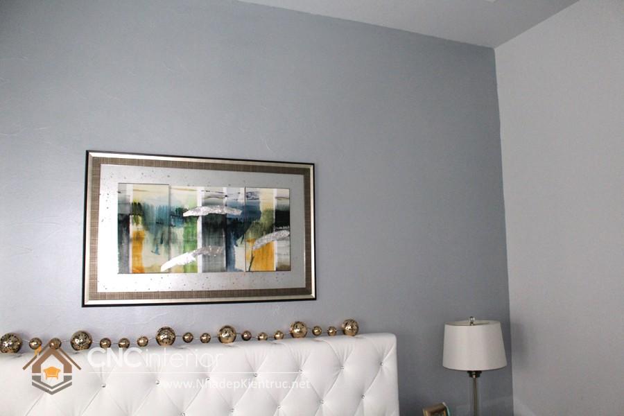 vẽ tranh tường phòng ngủ đơn giản 9