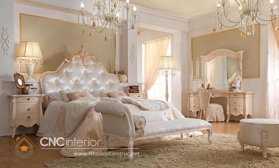 phong cách phòng ngủ bán cổ điển 1