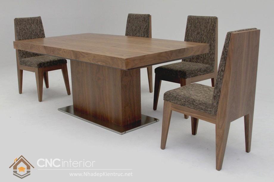 Bàn ghế ăn gỗ óc chó 05