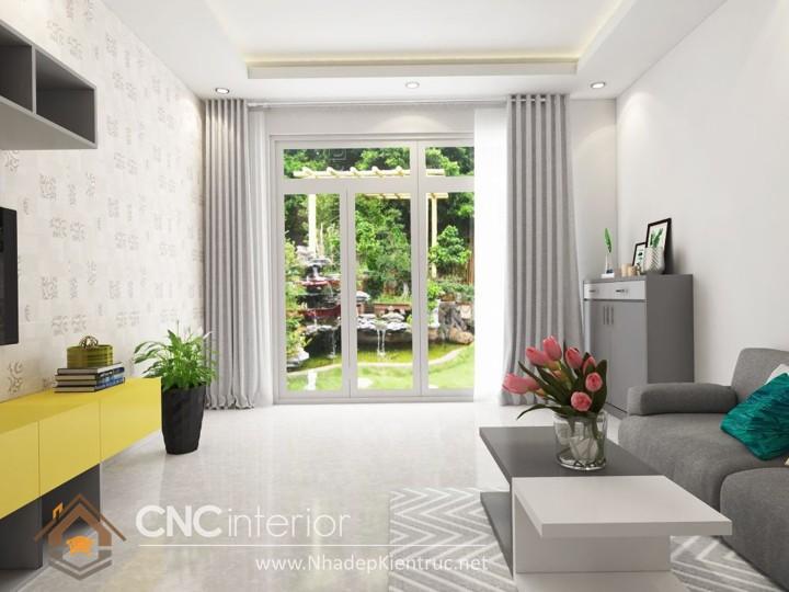 Thiết kế nội thất phòng khách nhà ống 02