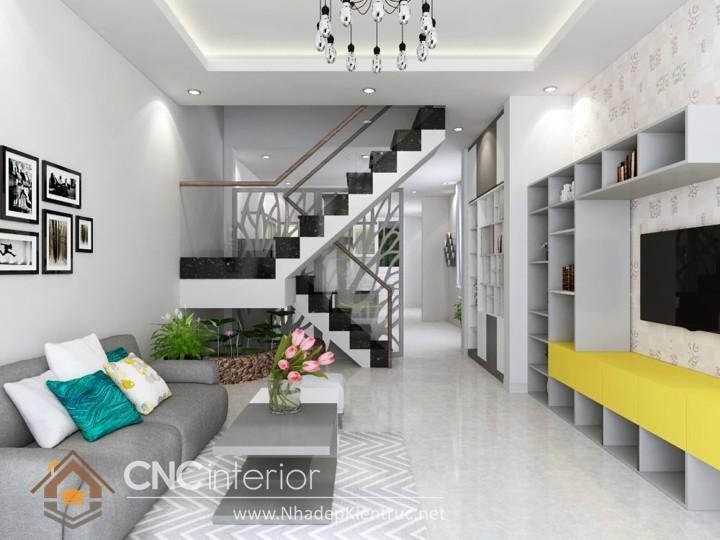 Thiết kế nội thất phòng khách nhà ống 03
