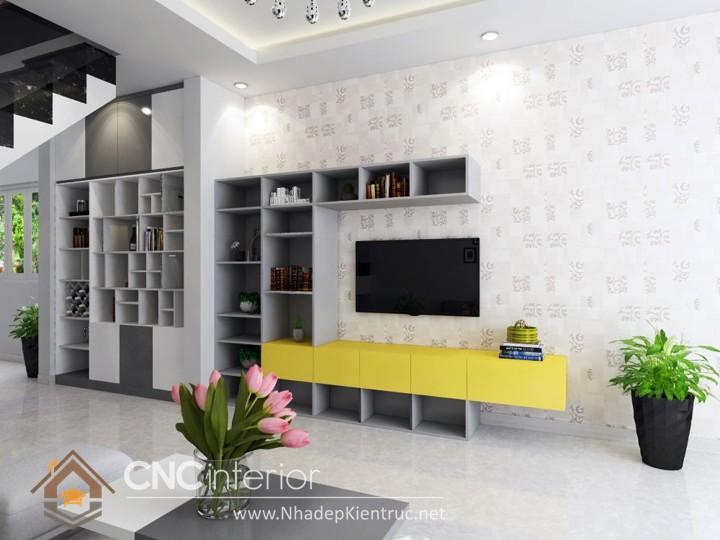 Thiết kế nội thất phòng khách nhà ống 04