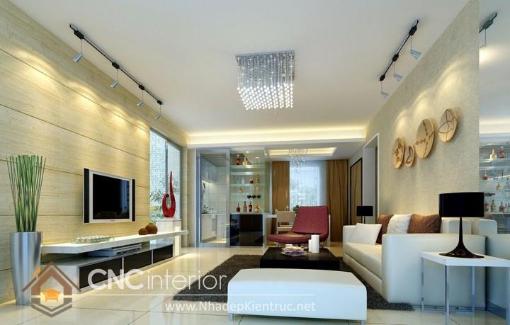 Thiết kế nội thất phòng khách nhà ống 05