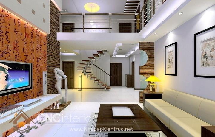 Thiết kế nội thất phòng khách nhà ống 06