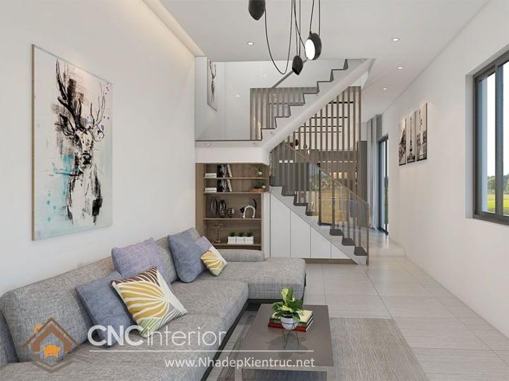 Thiết kế nội thất phòng khách nhà ống 07