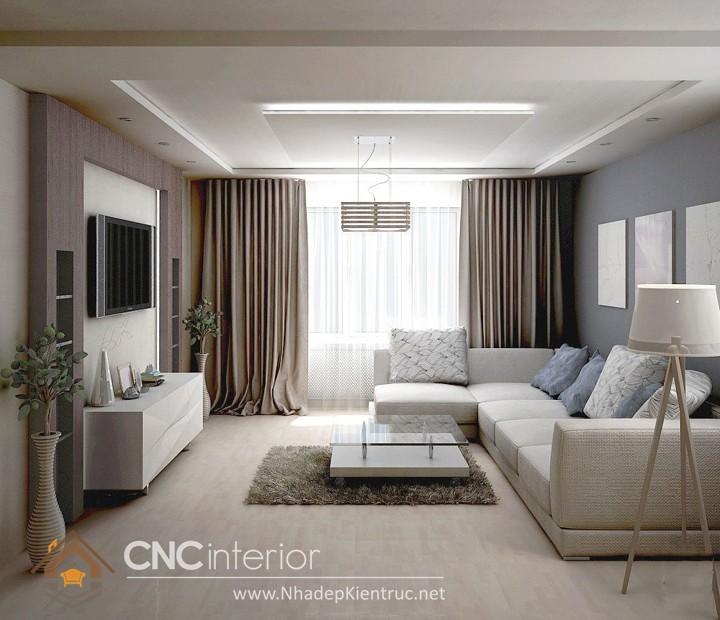Thiết kế nội thất phòng khách nhà ống 08