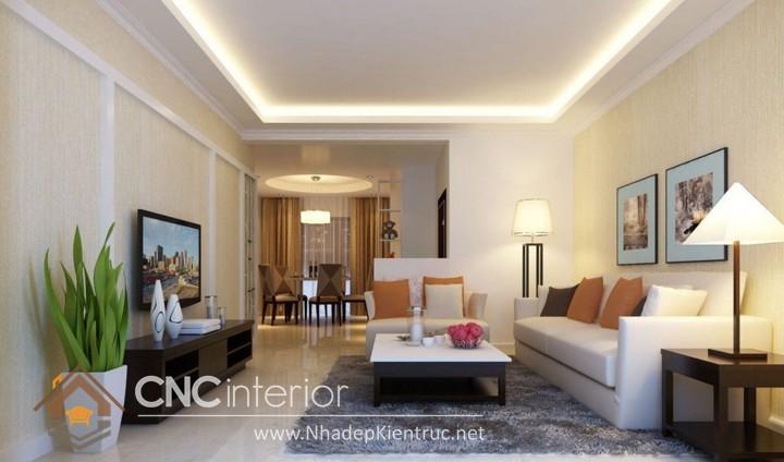 Thiết kế nội thất phòng khách nhà ống 09