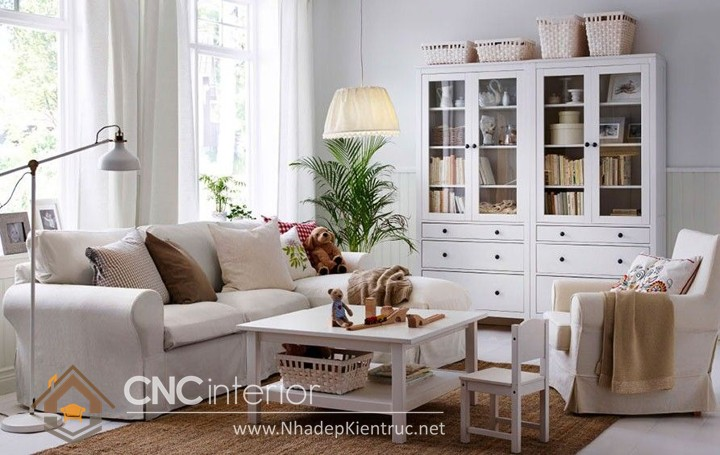 Thiết kế nội thất phòng khách nhỏ hiện đại 01