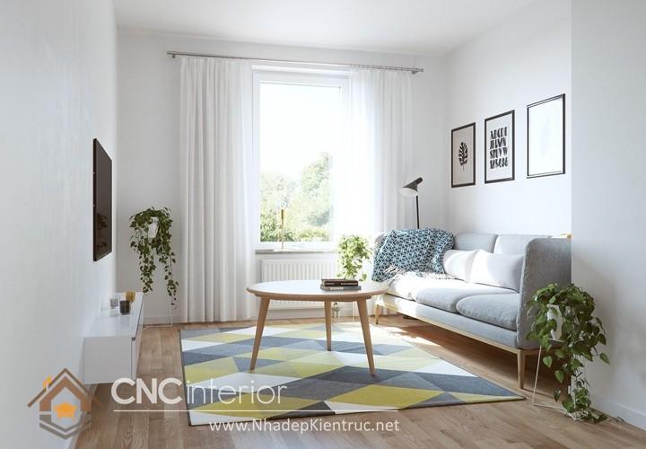 Thiết kế nội thất phòng khách nhỏ hiện đại 11